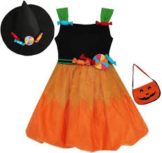 girls dresses orange color sunny fashion
