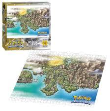 Sinnoh Map Pokemon Johto Puzzle For Collectibles Gamestop