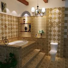 Ceramic Tile Designs For Bathroom Walls Brown Ceramic Tiled - Ceramic backsplash