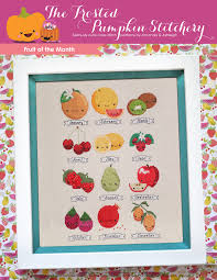 fruit of the month fruit of the month pdf cross stitch pattern the frosted pumpkin