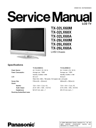 tx 32lx60a panasonic tv service manual electrostatic discharge