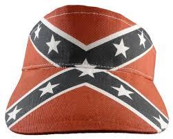 American Flag Visor Confederate Rebel Flag Adjustable Visor