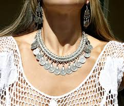 silver boho necklace images New bohemian gypsy love affair necklace antalya silver coin choker jpg