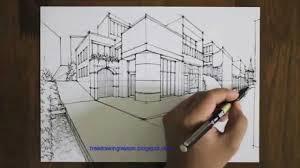 how to draw a street scene youtube