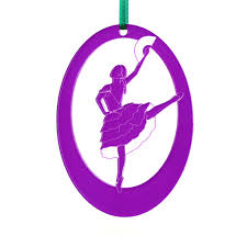 personalized chocolate dancer laser etched ornament made
