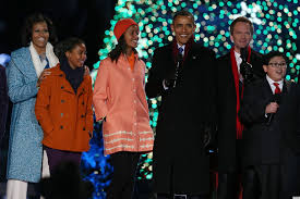 white house tree lighting photos michelle obama u0026 family cozy up