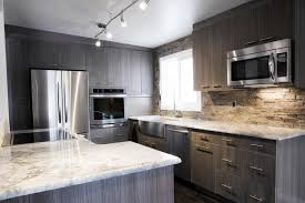 beautiful grey kitchen cabinets down and white kitchen cabinet top