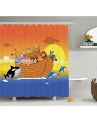 Whale Bathroom Accessories by Slash Prices On Noah U0027s Ark Decor Shower Curtain Set Noah U0027s Ark