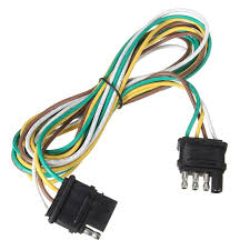 4 way pins trailer end light wiring harness bonded 4 pole flat