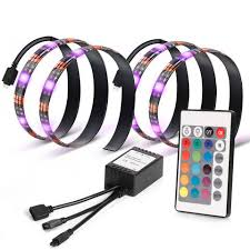 kohree 2 rgb multi color led light bias lighting hdtv usb