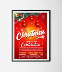 free christmas party u0026 happy new year flyer template