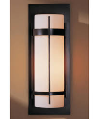 hubbardton forge 305894 banded 8 inch wide 1 light outdoor wall