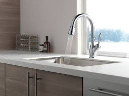 High Rise Kitchen Faucet by Delta Leland Single Handle Pull Down Standard Kitchen Faucet