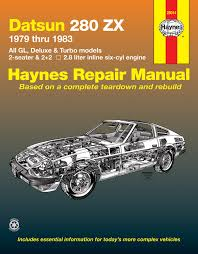 datsun 280zx 79 83 haynes repair manual haynes manuals