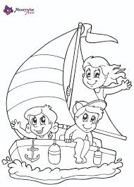Free Printable Colouring U2013 Children Boat
