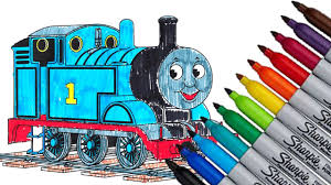 thomas the train tank engine fun coloring page 2016 hd video youtube