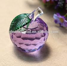 glass apple purple glass apple ornament decorative