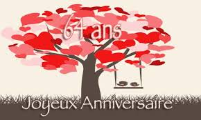 64 ans de mariage carte anniversaire mariage 64 ans arbre coeur