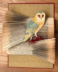 altered books owls canvas to the imagination