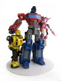 optimus prime cake topper wedding cake topper g1 bumble bee optimus prime elita 1 flickr