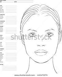 for makeup artists chart makeup artist blank template stock vector 441471274