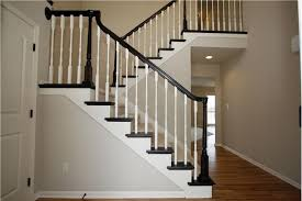 Black Banister Comtemporary 23 Staircase With Black Railing On Black Railing