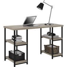 Double Pedestal Desk With Hutch by Elmwood Double Pedestal Desk Sonoma Oak Walmart Com