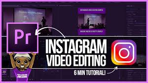 tutorial video editing premiere pro instagram video editing tutorial youtube