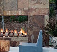 Outdoor Fireplace Surround by Garden Seat Ideas Patio Contemporary With Outdoor Fireplace
