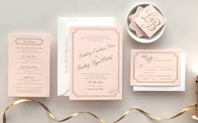 pink and gold wedding invitations bradley s pink and gold foil wedding invitations