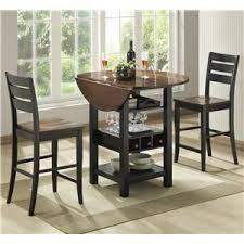 Dining Room Table With Wine Rack by Bernards Ridgewood Drop Leaf Pub Table With Wine Rack Wayside
