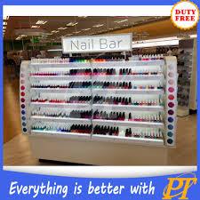 modern nail salon equipment glass nail polish wall display buy