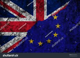 Flag Of The European Union Brexit Flags United Kingdom European Union Stock Illustration
