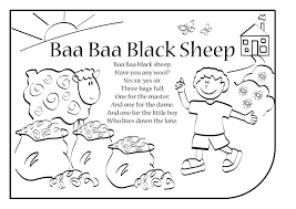 coloring download baa baa black sheep coloring page baa baa