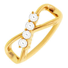 gold mothers rings 4 infinity mothers ring in 10kt yellow gold