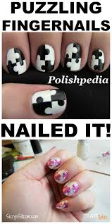puzzling manicure u2013 nailed it craftfail