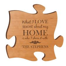cherry wood 12 inch puzzle wall
