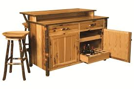 rustic kitchen islands and carts rustic hickory bar kitchen island