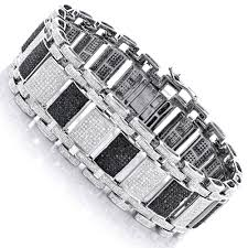 black bracelet diamond images Iced out 10k gold custom white black diamond bracelet for men 8 47ct jpg