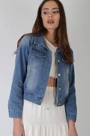 light blue cropped jean jacket light acid wash cropped denim jacket