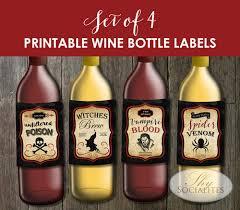 set of 4 printable vintage wine bottle labels