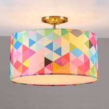 Pop Art Drum Shaped Light Kids Room Ceiling Light - Lights for kids room