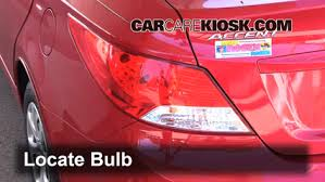 How To Replace Tail Light Tail Light Change 2012 2016 Hyundai Accent 2013 Hyundai Accent