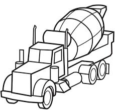 printable cement truck coloring coloringpagebook