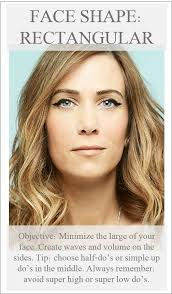 rectangle face shape hairstyles rectangle face shape do s projects pinterest rectangle face