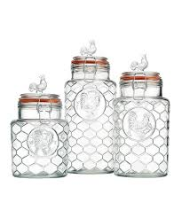 another great find on zulily glass rooster canister set by home