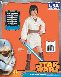 Luke Skywalker Halloween Costume Child Amazon Star Wars Child U0027s Obi Wan Kenobi Costume Small Toys