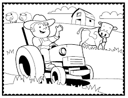 Farm Machinery Coloring Page Coloring Pages Farm Color Page