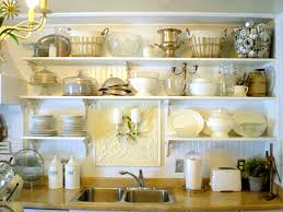 decorating kitchen shelves ideas garage wood counters with open kitchen cabinets styling open