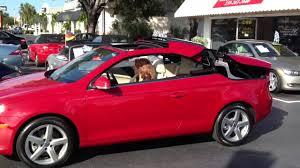 volkswagen convertible eos used auto haus karen demonstrates folding hard top convertible on 2007